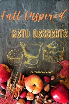 Fall is right around the corner! Satisfy your sweet tooth and stay in ketosis with these fall-inspired keto desserts. These low-carb tasty desserts are perfect for sweater weather! Desserts Keto, Sugar Free Desserts, Keto Snacks, Delicious Desserts, Dessert Recipes, Healthy Food Choices, Healthy Foods To Eat, Healthy Cooking, Healthy Eating