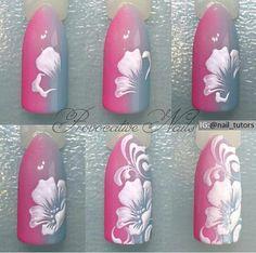 MK materials for nails gel polish IBX Ulan-Ud Uñas decoradas Trendy Nail Art, Nail Art Diy, Cool Nail Art, Cute Nails, Pretty Nails, One Stroke Nails, Nail Blog, Flower Nail Art, Nail Decorations