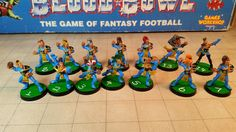 This is my TEAM! #WoodElves I won a lot of games with these guys #BloodBowl #miniatures #boardgames #GamesWorkshop