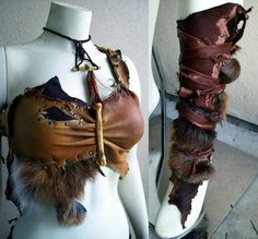 You can build this on a bra from old leather skirts, jewelry and last nights chicken dinner. and leather skirt Forsworn WIP 2 by Xavietta on DeviantArt Vestidos Viking, Larp, Conquest Of Mythodea, Vikings, Costume Viking, Estilo Tribal, Leather Bracers, Armadura Medieval, Renaissance Fair