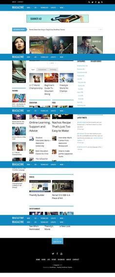 Magazine is a responsive and Retina ready WordPress theme from Themify. This theme comes packed with Themify Builder that provides an intuitive drag and drop layout builder Wordpress News Theme, Premium Wordpress Themes, New Theme, Lust, Entertaining, Magazine, Education, Learning, Magazines