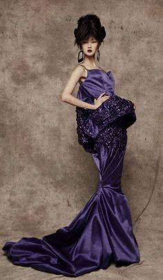 Creations of John Galliamo for Chrisian Dior - Lili Ji for L'Officiel China  2010