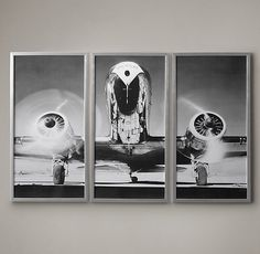 Airplane Triptych - Office (look for knock-offs on Etsy)