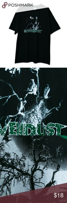 Vintage Sevendust Band Merch T-Shirt Condition: 9/10  Ships same or next day via USPS Priority Mail from sunny Orlando, FL :)  Please Note these are ACTUAL PHOTOS of the product listed.   Your business is greatly appreciated!   Poshmark Ambassador   4.8 Top Rated Seller   Top 10% Seller   Top 10% Sharer   Fast Shipper   Posh Mentor Vintage Shirts Tees - Short Sleeve
