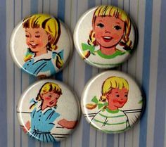 vintage book buttons