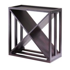 Kingston Modular and Stackable 'X' Wine Cubby in Espresso - 92104