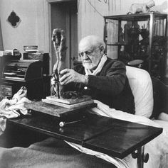 - Do you believe in God? - Yes, when I am working. Henri Matisse Photo by Dmitri Kessel: Matisse modeling in clay in 1951, age eighty-two