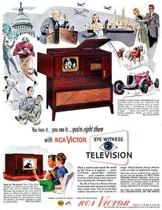 See also: Fred's Motor City and Fred's Cinema City. Vintage Tv Ads, Retro Ads, Vintage Advertisements, Radio Advertising, Television Tv, Vintage Appliances, Birthday Week, Tv Sets, Retro Futuristic
