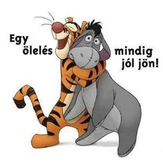 Great wallpaper image of Tigger the tiger giving Eeyore the donkey a big hug from Disney's Winnie the Pooh. See all Winnie the Pooh