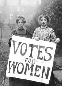 Christabel Pankhurst (right) with Annie Kenny, 1906. Catalogue reference: COPY 1/494