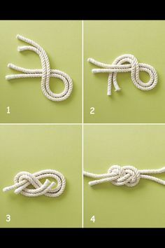 Nautical knot tutorial DIY, except the tutorial of getting from 2 to 3 is going to be needed! Nautical knot tutorial DIY - try it with leather cording for a bracelet Jewelry Knots, Diy Jewelry, Handmade Jewelry, Jewelry Making, Nautical Knots, Nautical Cards, Rope Knots, Macrame Knots, The Knot