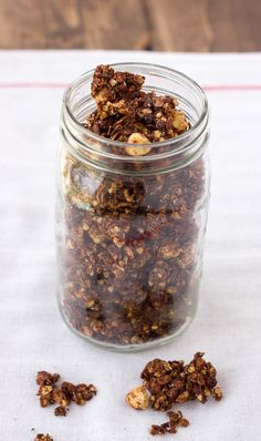 Chocolate Hazelnut Granola {Gluten-Free, Dairy-Free} | Meaningful Eats