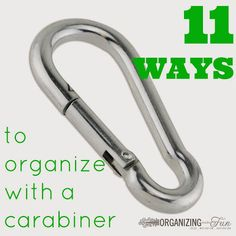 11 Ways to Organize with Carabiners!