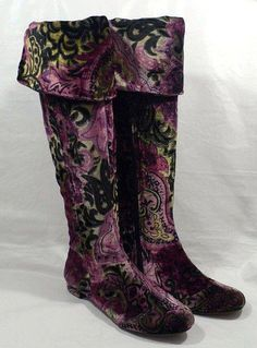 Boots Pagan Wicca Witch:  Velvet #boots.