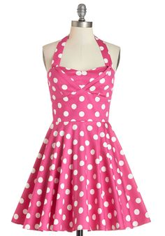 Traveling Cupcake Truck Dress in Pink. Your style is as sweet as your bakery confections when youre manning your food truck in this darling dress! #pink #modcloth