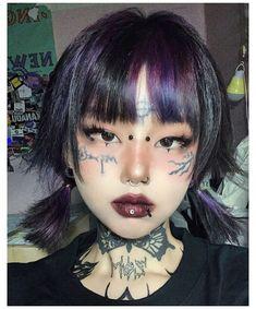 Edgy Makeup, Asian Makeup, Cute Makeup, Makeup Looks, Hair Makeup, Korean Makeup, Makeup Style, Asian Kawaii Makeup, Japanese Makeup