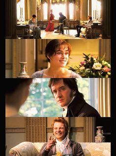 "Bingley's ""She got you, Darcy"" face!"