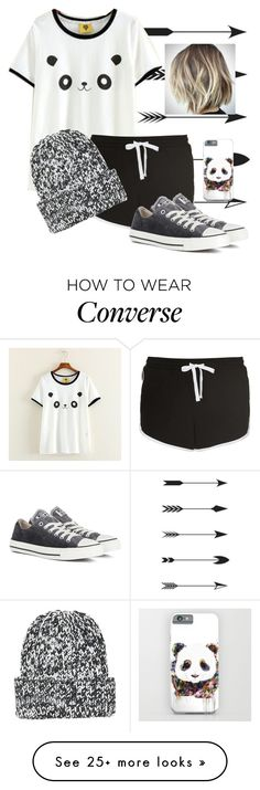 """Panda Love 6"" by daliajanuarybaby on Polyvore featuring Mushi, Topshop and Converse"