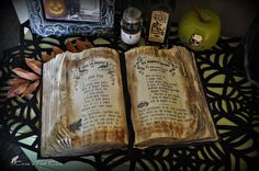 We just added a much needed Witch's Spell Book to our Halloween decor. It was in the family for years found at a thrift store but it ...
