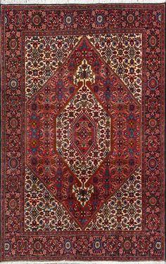 "Bijar Persian Rug, Buy Handmade Bijar Persian Rug 4' 1"" x 6' 6"", Authentic Persian Rug"