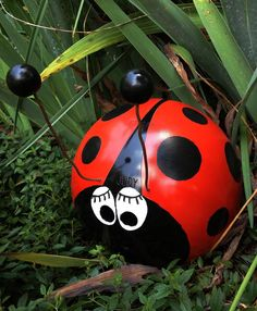 "Phase 5 lady bug bowling ball project finished named her ""Judy"""