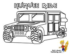 free army vehicle coloring pages - photo#41