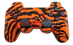 """This is our """"Orange Zebra Camouflage"""" 10 Mode Stealth Trigger Rapid Fire Controller. This is the last controller you will ever need. Remember you can now use the trigger rapid fire. There are no added buttons to it and it looks like a normal stock controller. Modes 4 is adjustable rapid fire meaning you can adjust any speed from 1 shots per second to 99, depending on specific game restrictions. All RapidModz.com controllers are 100% undetectable in all Games."""