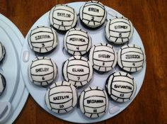 volleyball cupcakes <3 :3 cute :33