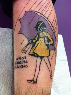 Morton Salt Girl Tattoo, When it Pains it Roars, ERIC EATON - The Electric Temple Tattoo Studio