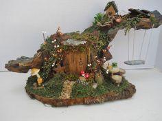OOAK Fairy House Display Fantasy Woodland Home by FlowersandFrills