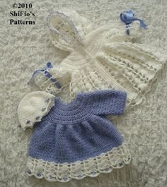 Lilac Hooded Jacket Dress Baby Crochet Pattern
