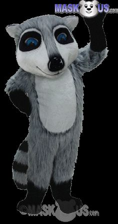 Raccoon Mascot Costume T0114 is part of our Animal Mascots Forest Animals Thermo-Lite line. The mascot costume head is constructed out of vaccum-formed styrene for a light-weight, cooler head and includes a screened vision panel, comfort ventilation panels, and a built-in cooling fan. Mascot costume fits most adults ranging from 5'4 inches (162 cm) to 6'2 inches (183 cm) and chest size up to 60 inches (152 cm).
