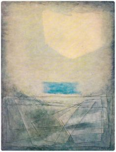 Josef Sima - Paysage a la tache bleue