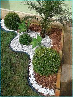 Front Yard Garden Design, Front Garden Landscape, Small Balcony Garden, Backyard Garden Design, Diy Garden, Small Garden Design, Backyard Ideas, Garden Edging, Small Backyard Patio
