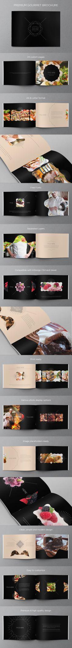 Premium Gourmet Brochure. Download here: http://graphicriver.net/item/premium-gourmet-brochure/5012550?ref=abradesign #design #brochure