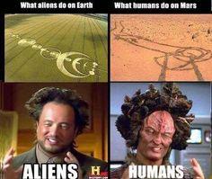 Alien humor - Encounter of the funny kind - PMSLweb Aliens Meme, Meme Alien, Humans Meme, Alien Vs, Memes Lol, Funny Jokes, Funny Comedy, Comedy Films, Memes Humor