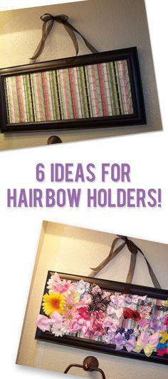 6 Ideas for Hair Bow Holders!