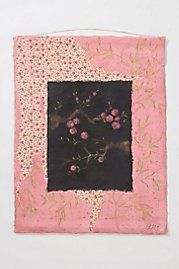 Acrylic paint, pastel and wax on cotton canvas...Petites Fleurs De Pechers By Aurelie Alvarez
