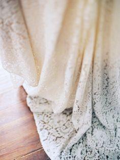 dyed wedding gown - photo by Loft Photography http://ruffledblog.com/minimalist-and-moody-wedding-editorial
