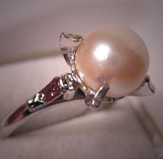 Antique Pearl Ring Vintage Art Deco Akoya by AawsombleiJewelry, $285.00