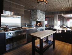 Hytte Breivasbu 12 Interior Architecture, Interior Design, Cabin Interiors, Mountain Homes, Log Homes, Living Room, Kitchen, Rustic Homes, House
