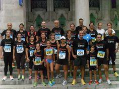 """el grupo antes del """"bautismo en carrera"""" 5km diario montañés (sep-2012)"""