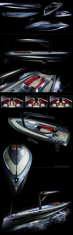 Sailing Yacht by André Marsiglia, via Behance