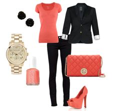 classy coral outfit  created by LovePink