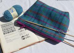 Harris Tweed Knitting Bag by TheFabulousMrG on Etsy, $60.00