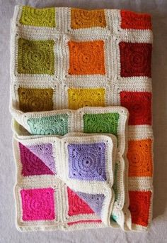colored square crochet