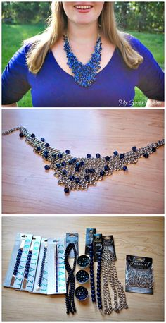 DIY Bead Cluster Web Necklace - 105 Top DIY Necklace Ideas To Try Out This Weekend - DIY & Crafts