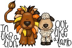 In Like A Lion Out Like A Lamb Clip Art Grab A Graphic In Like A Lion Out Like A Lamb Free Clip Art Lion And Lamb Clip Art