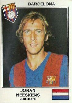 Johan Neeskens of Barcelona in 1978.