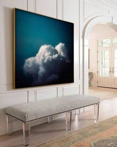 Storm Cloud Painting by Corinne Melanie Art – Art Deco, Abstract Pictures, Cloud Art, Extra Large Wall Art, Painting Techniques, Painting Inspiration, New Art, Art Paintings, Painting Art